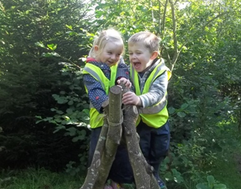 Holmsdale Manor Nursery Ibstock forest school climbing